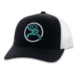 Hooey Black Turquoise Roughy Strap Kids Cap