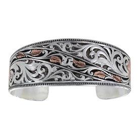 Montana Silversmiths Winding Leaves in Fall Cuff Bracelet