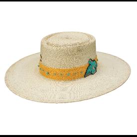 Charlie 1 Horse War Eagle Straw Palm Leaf Hat
