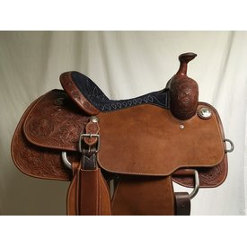 Martin Saddlery Navy Seat Team Roping Saddle