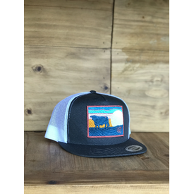 Lazy J Ranch Wear Grey and White Sky Patch Cap