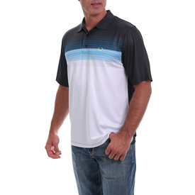 Cinch Men's Blue and White Ombre Arenaflex Polo Shirt MTK1820020