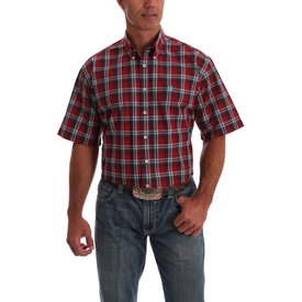 Cinch Men's Red, Blue and White Plaid Button Down Shirt MTW1111336