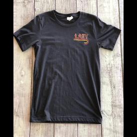 Lazy J Ranch Wear Fire J Black Tee