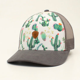 M&F Western Women's White and Grey Cactus Cap