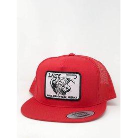 Lazy J Ranch Wear Red Cattle Headquarters Cap
