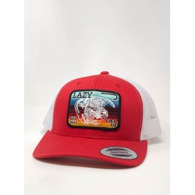 Lazy J Ranch Wear Red and White Serape Elevation Cap