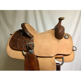 Martin Saddlery Spring Flower Rough Out Roper Saddle