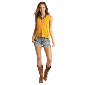 Rock and Roll Cowgirl Women's Scalloped Edge Tank