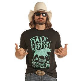 Dale Brisby Men's Black and Turquoise Original T-Shirt