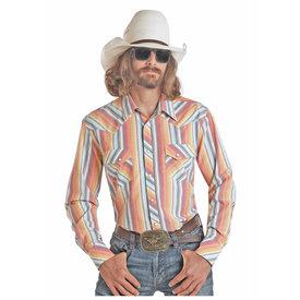 Rock & Roll Cowboy Men's Serape Print Snap Front Shirt