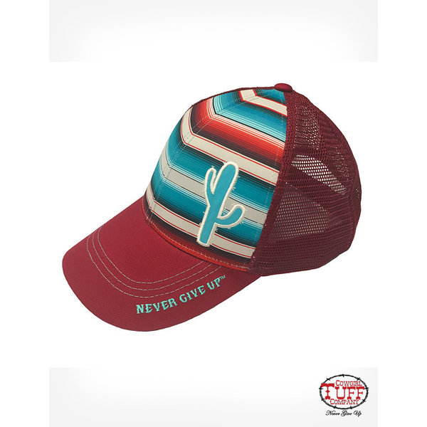 Cowgirl Tuff Women's Red Serape Trucker Cap