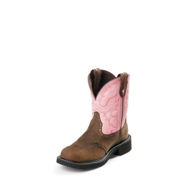Justin Women's Gemma Pink Gypsy Boot Size 6 C3