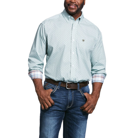 Men's Wrinkle Free Zillowbrook Print Classic Fit Button Down Shirt