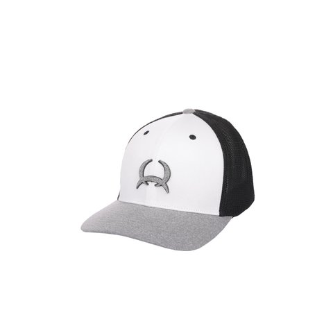 Heather Grey, White, Black Flexfit Cap