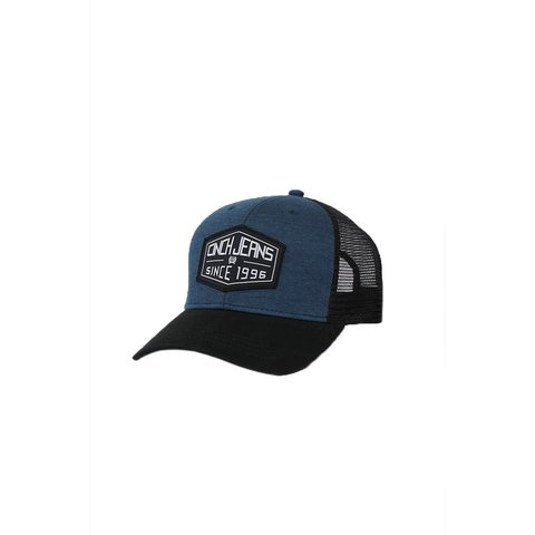 Blue and Black Mesh Trucker Cap OSFM
