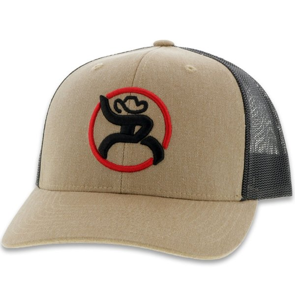 Hooey Youth's Tan and Black Strap Roughy Cap