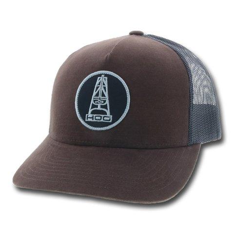Men's Brown and Black Oil Money HOG Cap