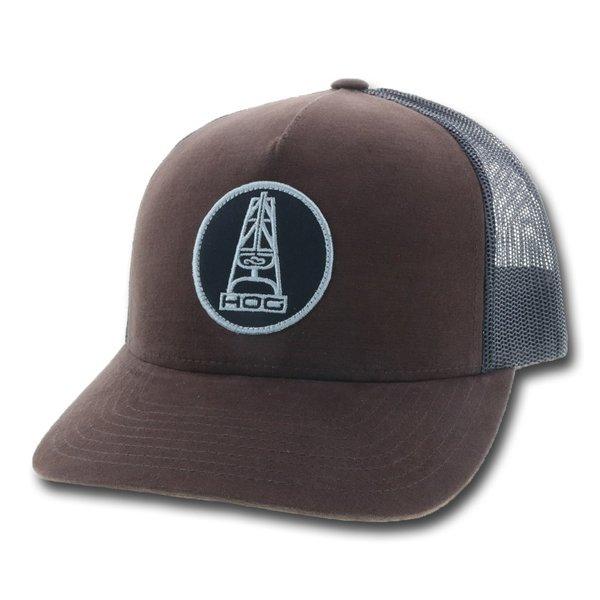 Hooey Men's Brown and Black Oil Money HOG Cap