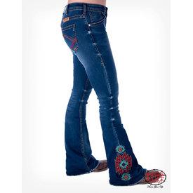 Cowgirl Tuff Women's Aztec Rocks Trouser