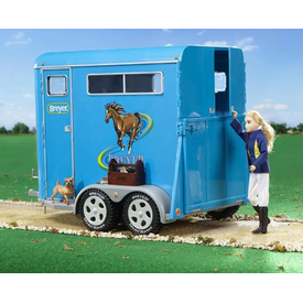 Breyer Horses Traditional Sized 2 Horse Bumper Pull Trailer