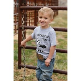 "Cinch Boy's Grey ""Comin in Hot"" T-Shirt"