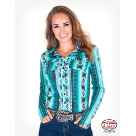 Cowgirl Tuff Women's Aztec Pullover Button Down Shirt
