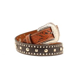 Nocona Belt Co. Kids Embossed Studded Belt size 22