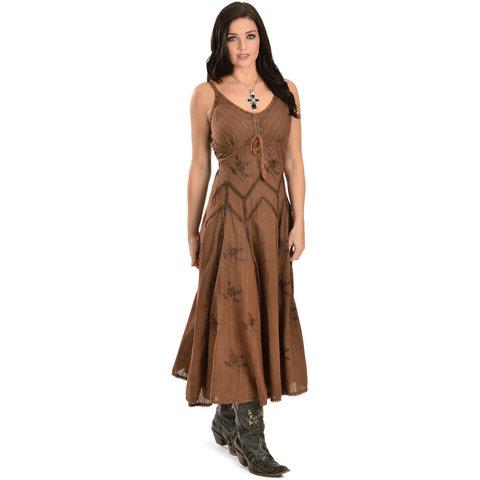 Women's Copper Cotton Dress Size Large