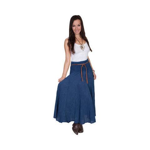 Women's Dark Blue Acid Wash Skirt