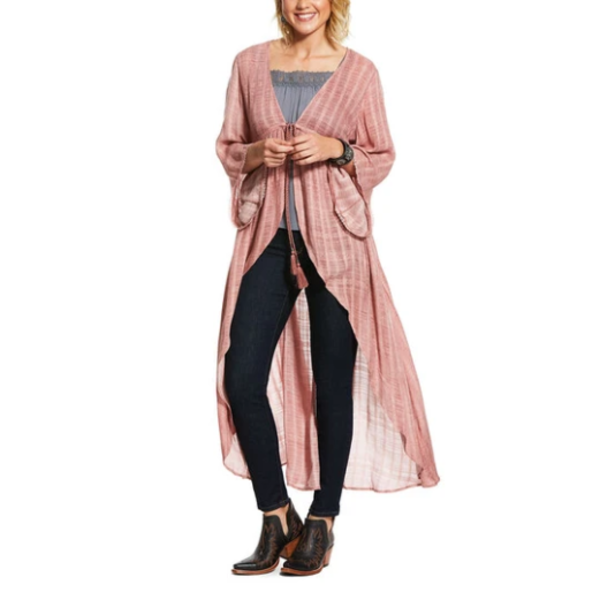 Ariat Women's Blush Pink Short Sleeve Duster