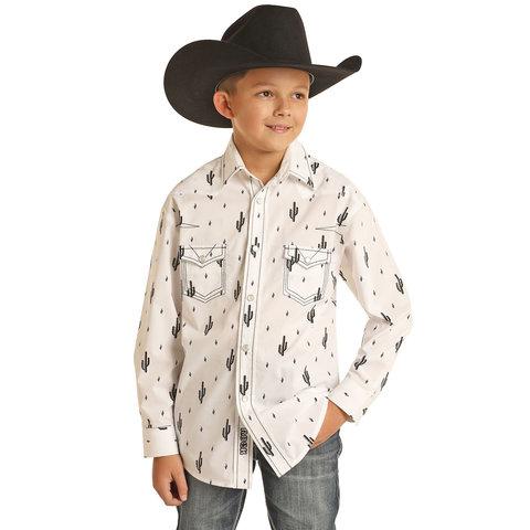 Boys Cactus Snap Shirt