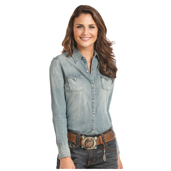 Panhandle Women's Denim Snap Front Shirt