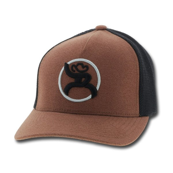 Hooey Roughy Brown and Black Strap Cap