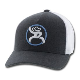Hooey Roughy Charcoal and White Strap Cap
