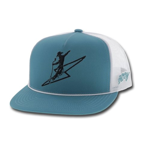 Blue and White Buzz Cap