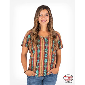 Cowgirl Tuff Multicolor Aztec T Shirt