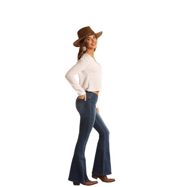 Rock & Roll Denim Women's Medium Wash Bargain Bell Jeans