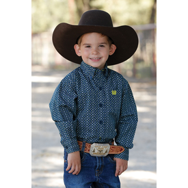 Cinch Infant Teal and Blue Long Sleeve Shirt