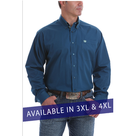 Cinch Men's Teal Button Down Shirt