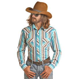 Men's Dale Brisby Jade Striped Snap Front Shirt