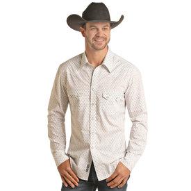 Rock & Roll Cowboy Men's Jade Striped Snap Front Shirt