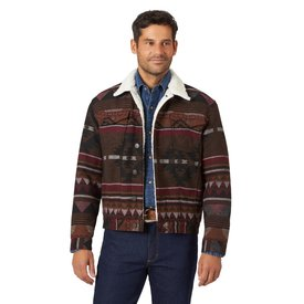 Wrangler Men's Jacquard Trucker Jacket