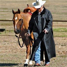 Double S Black Saddle Slicker