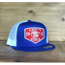 Lazy J Ranch Wear Royal Cap with Red Ranch Patch