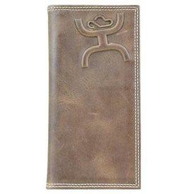 Hooey Distressed Rodeo Wallet w Raised Logo