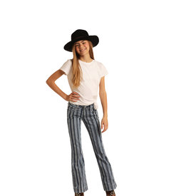 Panhandle Girl's Striped Trouser