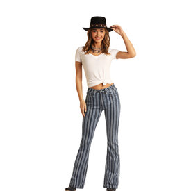 Rock and Roll Cowgirl Women's Striped Trouser