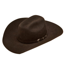 Ariat Youth's Chocolate Wool Hat