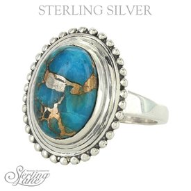 Montana Silversmiths Sterling Silver Ring With Turquoise Stone sz 9
